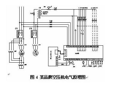 以某品牌空压机为例,图4是其电路原理图.